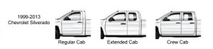 Chevy and GMC truck cab sizes 1999-2006